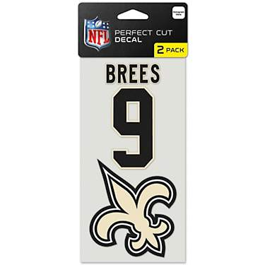 WinCraft New Orleans Saints Drew Brees No 9 Perfect Cut Decal Set