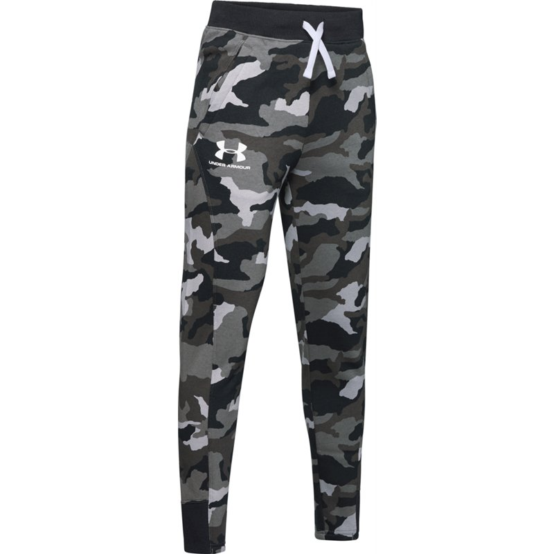 Under Armour Boys' Rival Camo Printed Jogger Pants Black, X-Large – Boy's Athletic Pants at Academy Sports