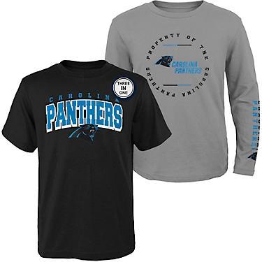 uk availability 91bcb e8654 NFL Boys' Carolina Panthers Club 3-in-1 T-shirt Combo Pack