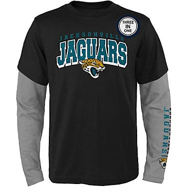 5ffc1045 NFL Boys' Jacksonville Jaguars Club 3-in-1 T-shirt Combo Pack