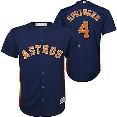 promo code 18918 54d02 Majestic Boys' Houston Astros George Springer Alt2 Replica Jersey