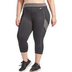 Women's Athletic Contrast Stitch Plus Size Capri Pants