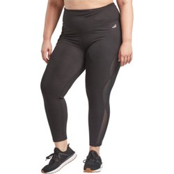 Women's Athletic Tummy Control Plus Size 7/8 Length Leggings