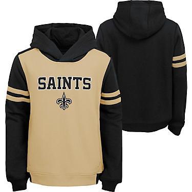 best service d27c6 4a5a7 NFL Boys' New Orleans Saints Retro Block Pullover Hoodie