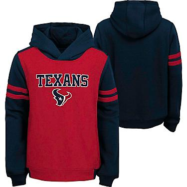 reputable site df4e5 9caa5 NFL Boys' Houston Texans Retro Block Pullover Hoodie
