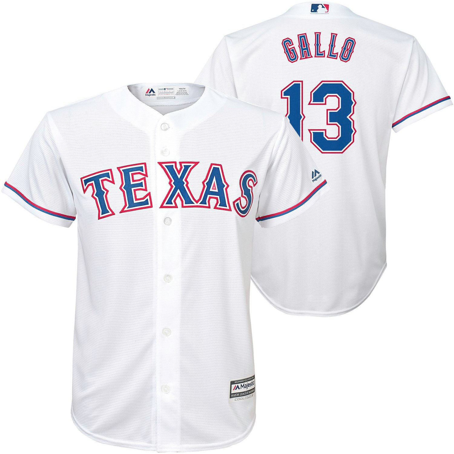 buy popular 9bc93 77880 MLB Boys' Texas Rangers Replica Jersey