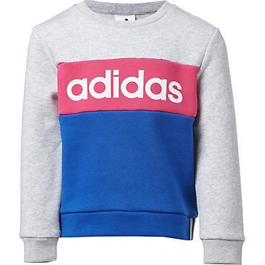 adidas Girls' Pieced Long Sleeve Pullover Sweatshirt