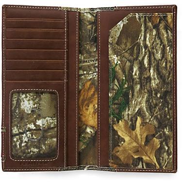 85f5b6ff3683 Realtree Men's Edge Camo Leather Secretary Wallet