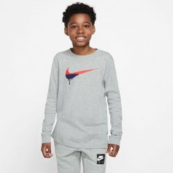 Boys' Novelty Swoosh Long Sleeve Graphic T-shirt