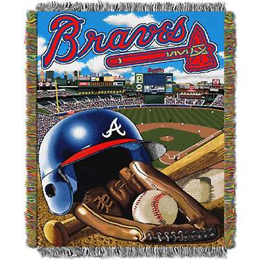 The Northwest Company Atlanta Braves Home Field Advantage Tapestry Throw Blanket
