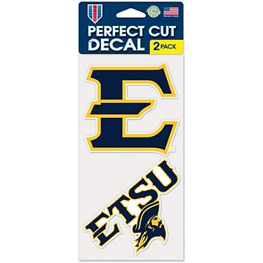WinCraft East Tennessee State University 4 in x 4 in Decals 2-Pack