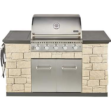 Outdoor Gourmet 5-Burner Rock Island Grill