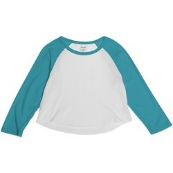 Juniors' Cropped Baseball T-shirt