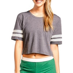 Juniors' Squad Mesh Crop T-shirt