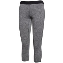 Juniors' Plus Size Curves Dri Team Heather Capri Leggings
