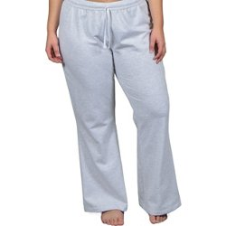 Juniors' Plus Size Curves Open Bottom Sweatpants