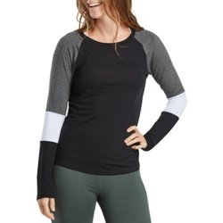 Women's Athletic Colorblock Long Sleeve T-shirt