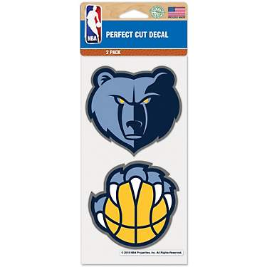 WinCraft Memphis Grizzlies 4 in x 8 in Decal 2-Pack