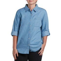 Women's Willow Creek Chambray Button-Down Top