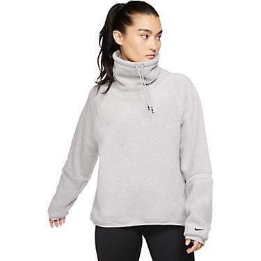 Nike Women's Therma Training Fleece Cowl Neck Long Sleeve Top