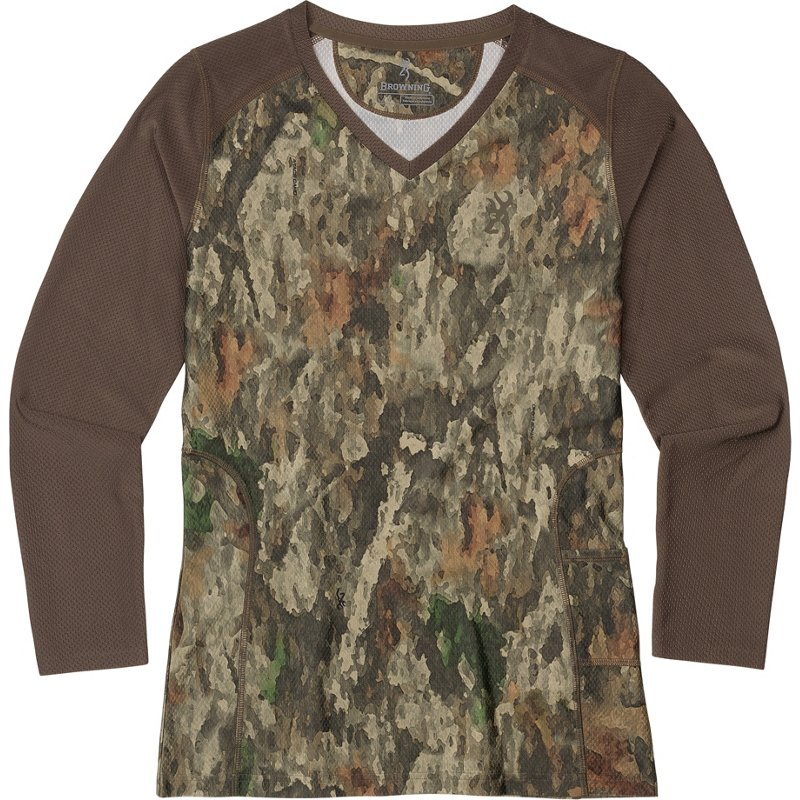 Browning Women's Big Game A-TACS TD-X Tech Long Sleeve Hunting T-Shirt, Medium - Ladies Non-Insulated Camo at Academy Sports thumbnail