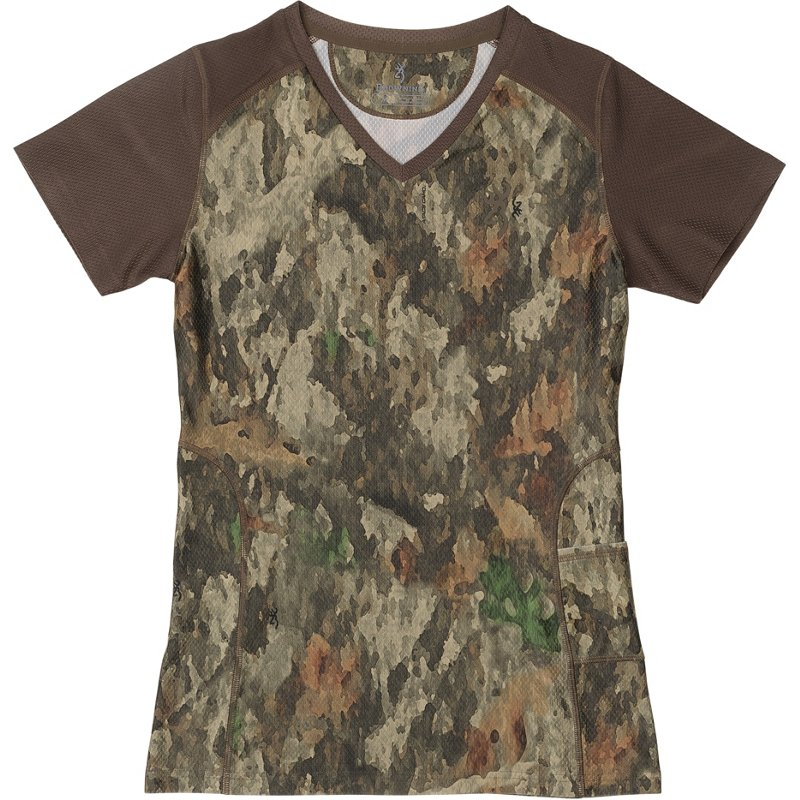 Browning Women's Big Game A-TACS TD-X Tech Hunting T-Shirt, Small - Ladies Non-Insulated Camo at Academy Sports thumbnail