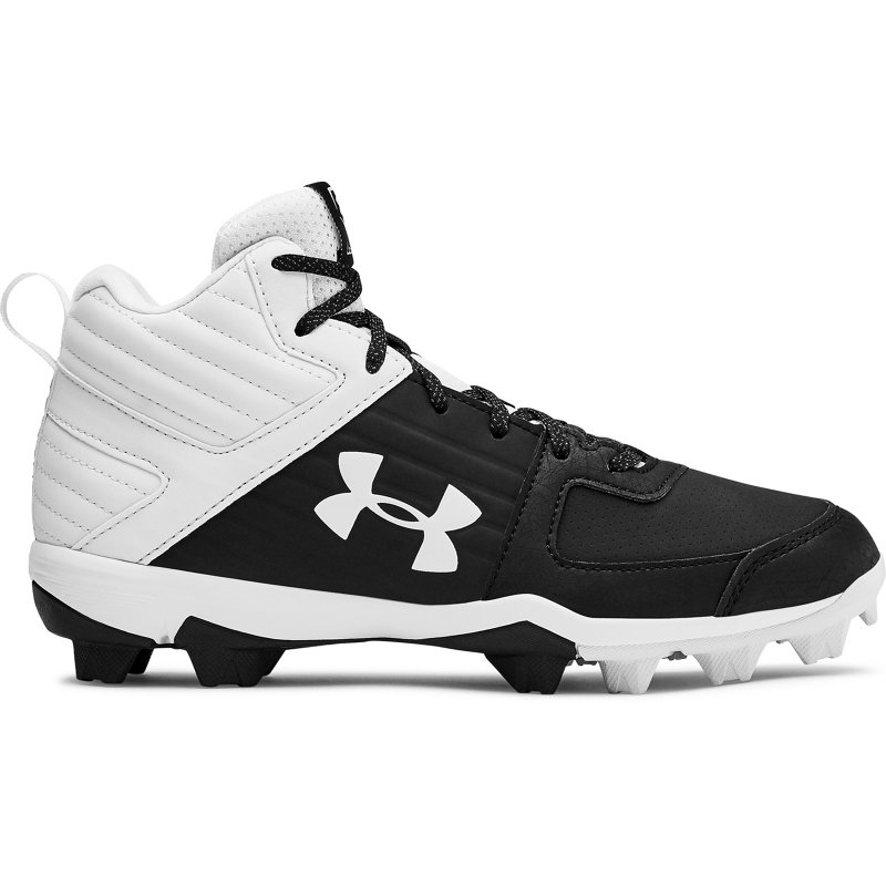 Under Armour Boys' Leadoff Mid Baseball Cleats Black, 5 - Youth Baseball at Academy Sports (121886514 3022070-001) photo