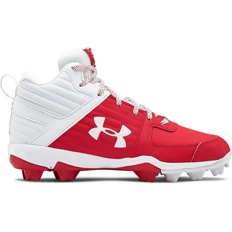 Under Armour Boys' Leadoff Mid Baseball Cleats Red, 4 - Youth Baseball at Academy Sports (121886944 3022070-600) photo