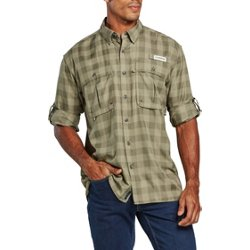 Men's Aransas Pass Heather Plaid Long Sleeve Fishing Shirt