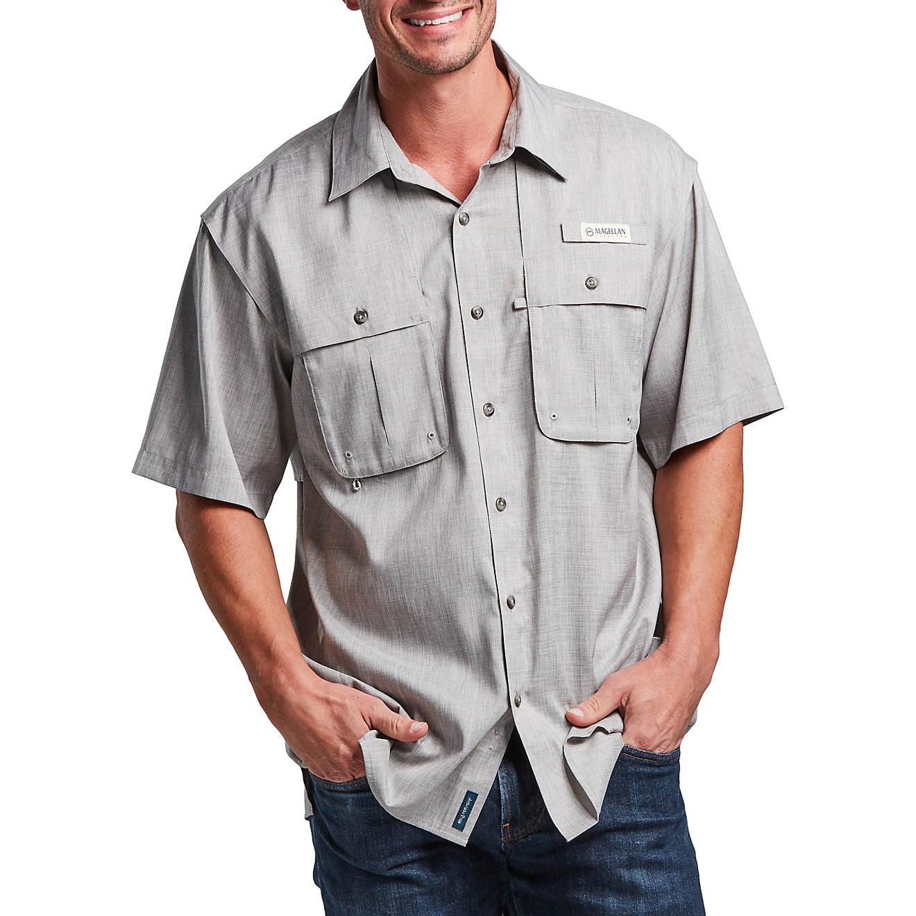 .97 Magellan Outdoors Men's Aransas Pass Heather Short Sleeve Fishing Shirt at Academy!