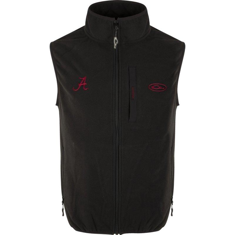 Drake Waterfowl Men's University of Alabama Camp Fleece Vest Black, Small – NCAA Men's Fleece/Jackets at Academy Sports