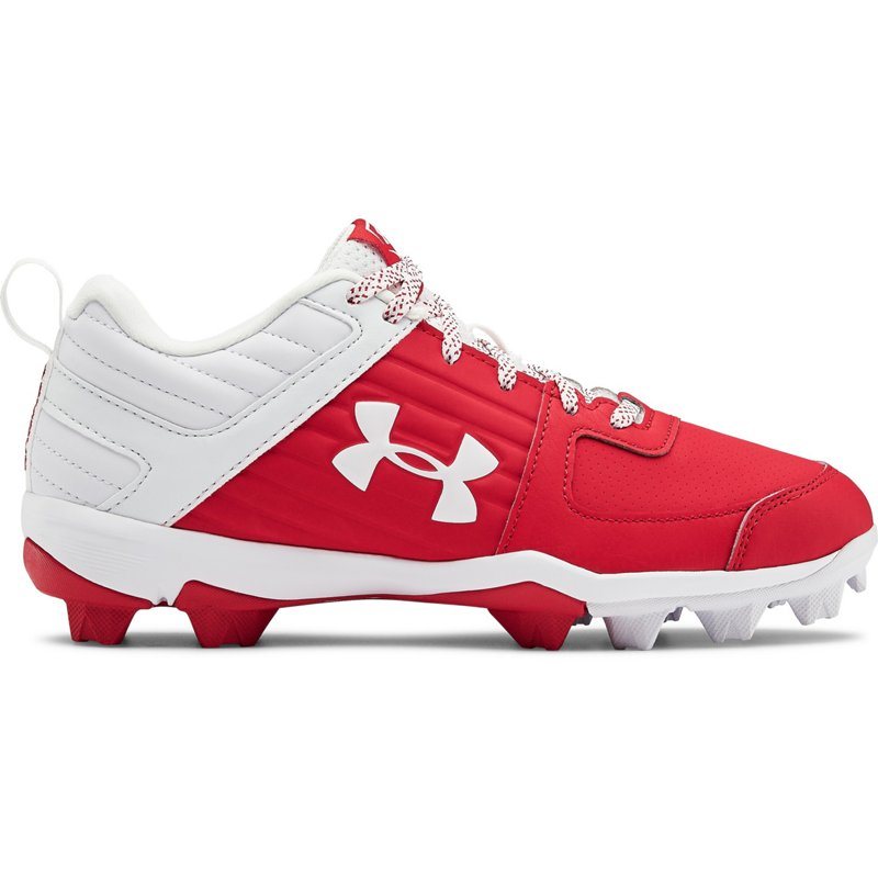 Under Armour Boys' Leadoff Low Baseball Cleats Red, 5 - Youth Baseball at Academy Sports (119916622 3022072-600) photo
