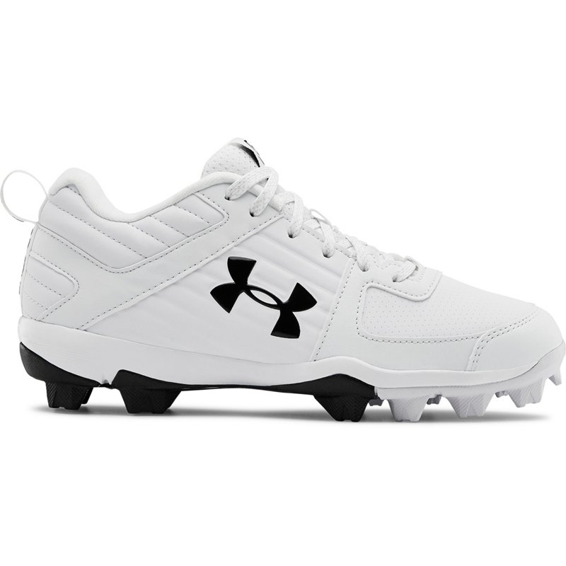 Under Armour Boys' Leadoff Low Baseball Cleats White, 4.5 - Youth Baseball at Academy Sports (121887103 3022072-100) photo