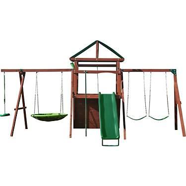 AGame Lookout Ridge Wooden Swing Set