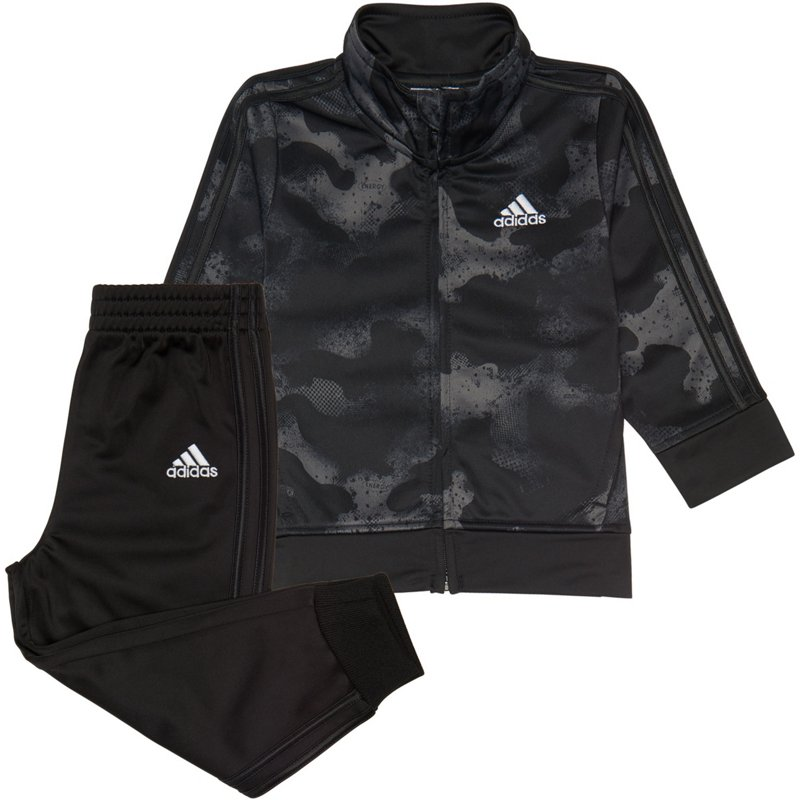 adidas Boys' 4-7 Camo Print Front Zip Jacket and Jogger Set Black, 5 Youth – Boy's Athletic Shorts at Academy Sports