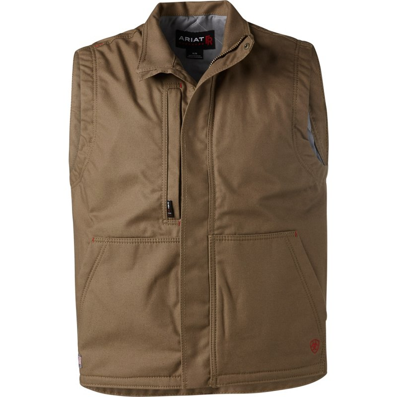 Ariat Men's FR Workhorse Insulated Work Vest Field Khaki, X-Large - Men's Work Jackets at Academy Sports thumbnail