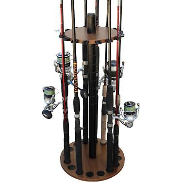 Rush Creek 16 Fishing Rod Round Rack
