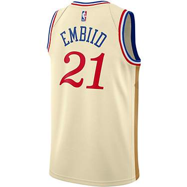 Nike Men's Philadelphia 76ers Joel Embiid 21 Swingman City Edition Jersey