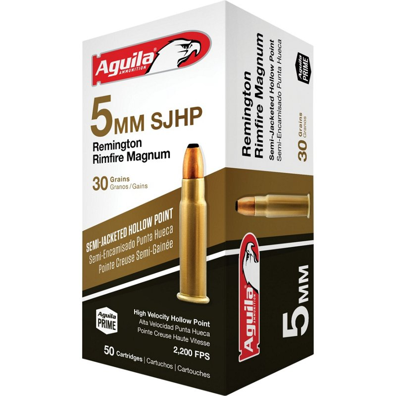 Aguila Ammunition High Velocity 5mm Remington Rimfire Magnum 30-Grain SJHP Ammunition - Rifle Shells at Academy Sports thumbnail