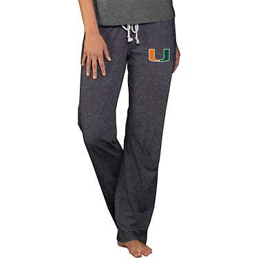 College Concept Women's University of Miami Quest Knit Pants