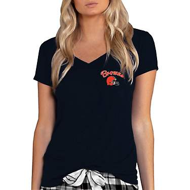 College Concept Women's Cleveland Browns Side Marathon Top