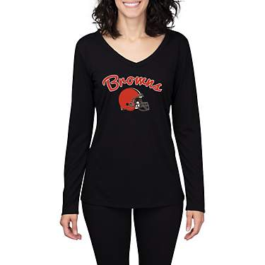 College Concept Women's Cleveland Browns Marathon Long Sleeve Top