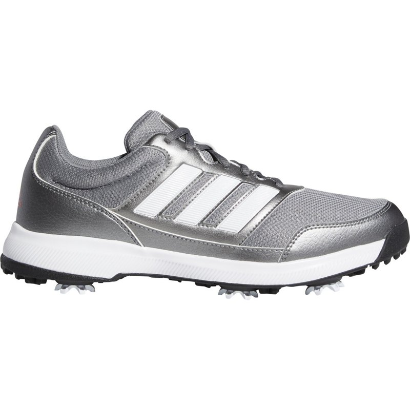 adidas Men's Tech Response 2.0 Golf Cleats Gray/White, 13 - Men's Golf Shoes at Academy Sports