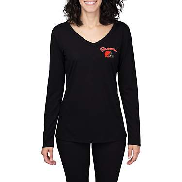 College Concept Women's Cleveland Browns Side Marathon Long Sleeve Top