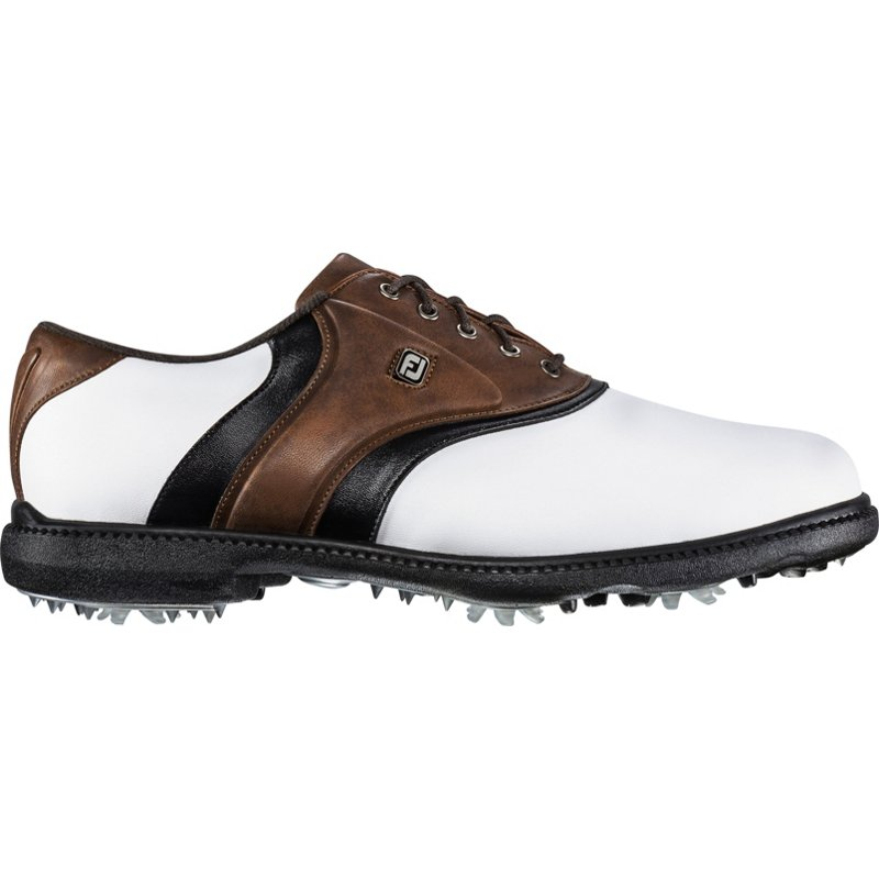 FootJoy Men's FJ Originals Golf Shoes White/Brown, 9.5 - Men's Golf Shoes at Academy Sports