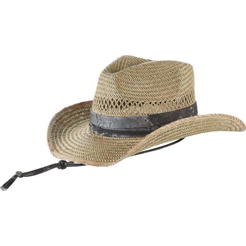 O'Rageous Men's Realtree WAV3 Outback Hat Mirage Gray/Caviar/Realtree Fish - Men's Swim/Beach Hats at Academy Sports thumbnail