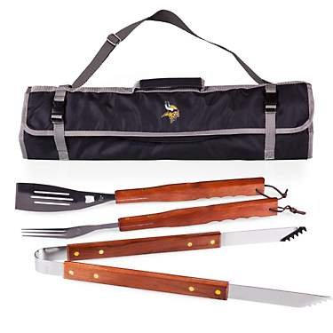 Picnic Time Minnesota Vikings Barbecue Tote and Grill Set