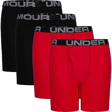 Under Armour Boys' Core Cotton Boxer Briefs 4-Pack