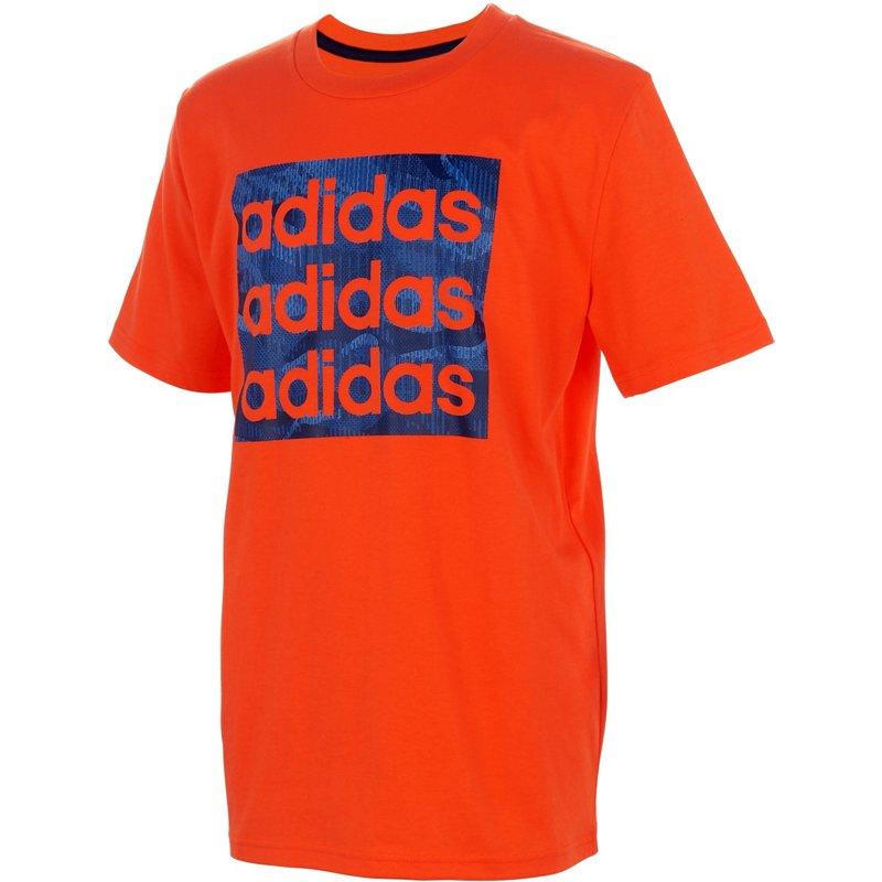 adidas Boys' Core Camo Print Graphic T-Shirt Semi Solar Red, Medium - Boy's Athletic Tops at Academy Sports thumbnail
