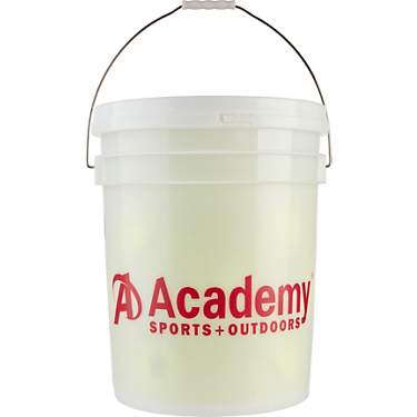 Academy Sports + Outdoors 11 in Fast-Pitch Practice Softballs 18-count Bucket